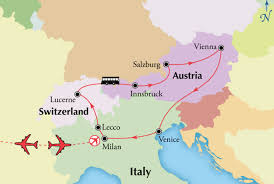Map Of Venice Northern Italy Tour With Austria And Switzerland Milan Salzburg