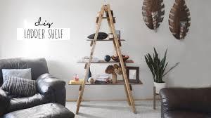Tree Branch Bookshelf Diy Diy Ladder Shelf Youtube