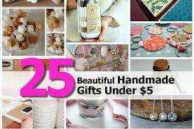 25 beautiful handmade gifts under 5