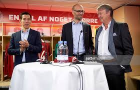 jakob hoyer press conference danish fa presenting new team coach photos and