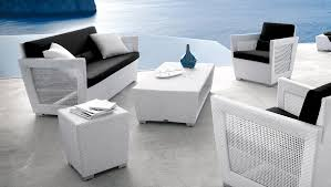 relax with white wicker outdoor furniture home decorations spots
