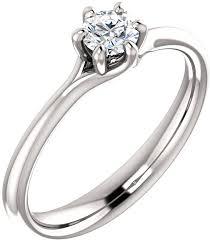 1 4 carat engagement ring designer 6 prong 1 4 carat solitaire ring