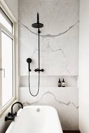 build a better bath black and white details in bathroom design