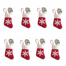 Christmas Stocking Tree Decoration 12 Pieces Lot Christmas Tree Decor Mini Christmas Stockings And