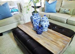 Tray Table For Ottoman by Diy Wrap Around Ottoman Tray Be My Guest With Denise