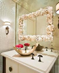 Seashell Bathroom Ideas by How To Decorate A Bathroom Mirror Frame With Shells 5 Guides For