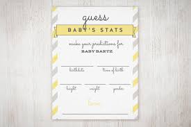 baby shower guessing baby shower guess the stats free printable the umbrella