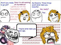 Make A Meme Comic - ragegenerator rage comic makeup troll