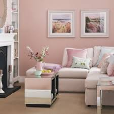 Pink Table L Interior Decoration Soft Pink Living Room With L Shaped Grey