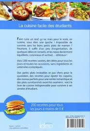 livre de cuisine facile pour tous les jours amazon fr la cuisine des etudiants 2014 matagne livres