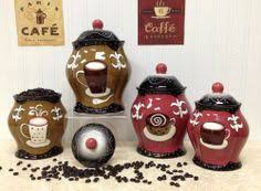 coffee kitchen canisters tuscany colorful coffee bean painted canister set of 4 83301