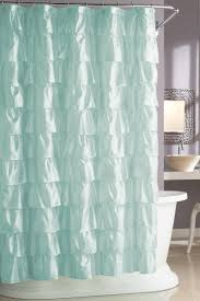 Teal Bathroom Decor by Bathroom Slate Grey Ruffle Shower Curtain For Bathroom Decoration