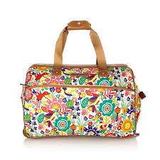 lilly bloom bloom tulips and tweets wheeled duffle 8343506 hsn