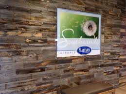 Barn Wood Wall Ideas by Reclaimed Wood Wall Our Environmentally Friendly Peel