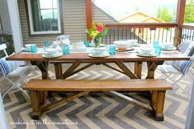 Pottery Barn Patio Furniture Diy Pottery Barn Inspired Table