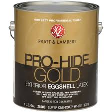 pratt u0026 lambert pro hide gold latex eggshell exterior house paint