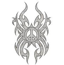 s5224l peace sign with tribal wings designer looks isaacs designs