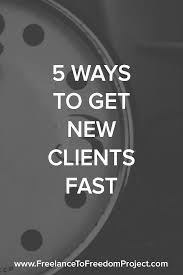 get freelance clients fast png