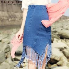 korean fashion style skirt 2017 new arrival jeans skirt short
