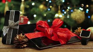 tablet pc smartphone and smartwatch for with gifts and