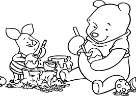 winnie the pooh easter eggs winnie the pooh painting easter egg coloring page wecoloringpage