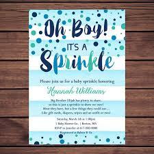sprinkle shower baby sprinkle invitation boy blue watercolor stripes blue teal