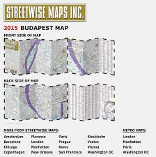 New Orleans Metro Map by Streetwise Budapest Map Laminated City Center Street Map Of