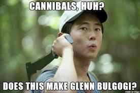 Glenn Walking Dead Meme - glenn walking dead bulgogi meme on imgur