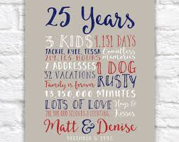 25th anniversary gifts for parents 25th anniversary gift 25 year anniversary gift 25th wedding