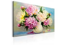 peonies bouquet canvas painting peonies bouquet of happiness other flowers