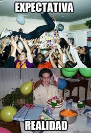 Birthday Party Memes - expectativa realidad birthday party fail quickmeme
