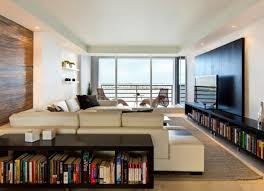 attractive photograph of stylish design of living room as