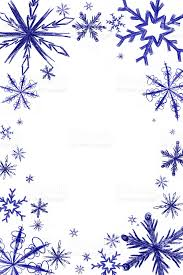 snowflake frame on white doodles elements stock photo 187618471