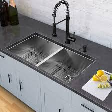 modern kitchen sink with drain boards and chrome faucet lovely kitchen sink and faucet sets sinks the bathroom improvement
