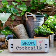 cocktail grow kit gardening kit mixology uncommongoods