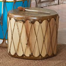 Log Decor Native American Log Drum Natural