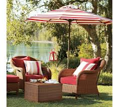 pottery barn patio furniture palmetto all weather wicker armchair honey pottery barn au