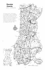 Civil Maps Decatur County Civil Districts 1860 To 1960