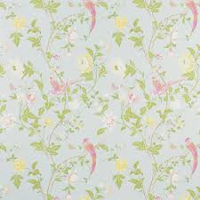 summer palace duck egg floral wallpaper laura ashley