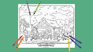 why do we call it christmas book u2013 nativity coloring page