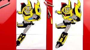 how to draw bumblebee transformer art for kids hub