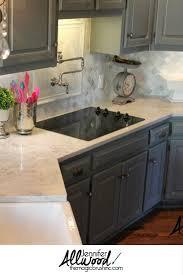 Just Cabinets And More by Kitchen Backsplash Arabesque Pattern Gray Cabinets And