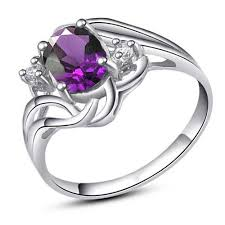 jewellery rings silver images Free shipping solid 925 sterling silver jewelry sets real amethyst jpg