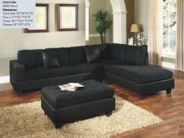Black Microfiber Sectional Sofa Us Pride S0005 Black Microfiber Sectional Sofa