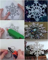 how to diy glue snowflake ornament beesdiy