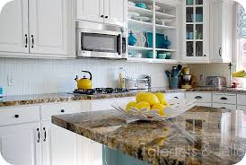 white kitchen cabinets with aqua backsplash aqua and white kitchen reveal tatertots and jello