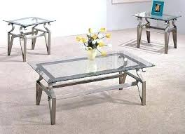 Glass Modern Coffee Table Sets Glass Coffee And End Table Set Glass Top Coffee Table Sale Doozie Me
