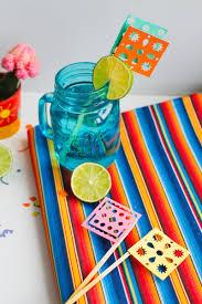 Mexican Party Flags Papel Picado Drink Stirrers Mexican Themed Wedding Diy Cinco De