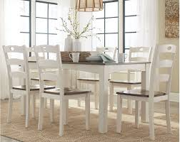 ashley dining table and chairs ashley woodanville dining room table set 7 cn d335 425 portland