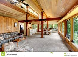 log cabin house interior stock photo image of area northwest